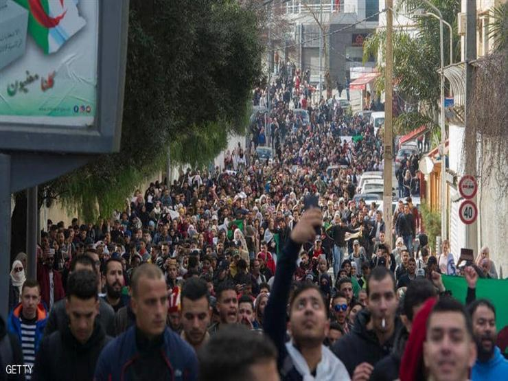 """one million protesters in the streets of algeria demanding the resignation of bouteflika and the rejection of article """"102"""""""