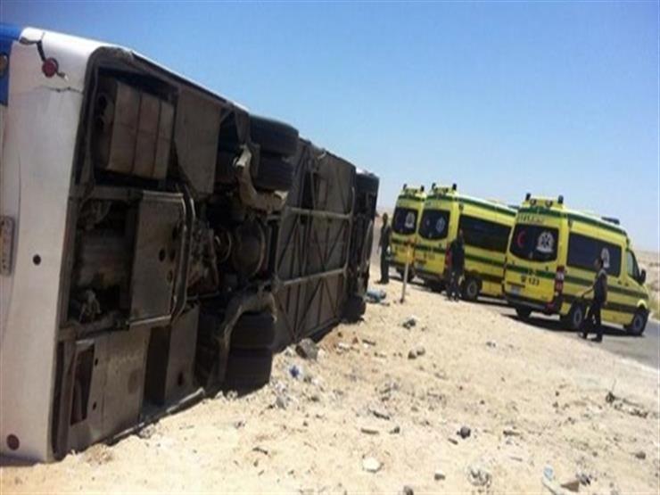 """""""صحة أسوان"""": 21 سودانيًا أصيبوا في حادث الأتوبيس السياحي"""