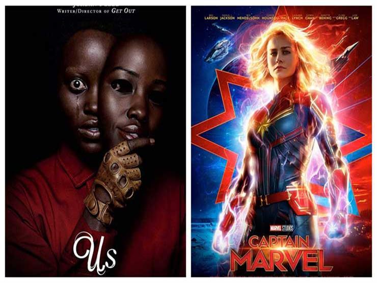 """صراع شباك التذاكر.. بين """"Captain Marvel"""" وفيلم الرعب والإثارة """"Us"""""""