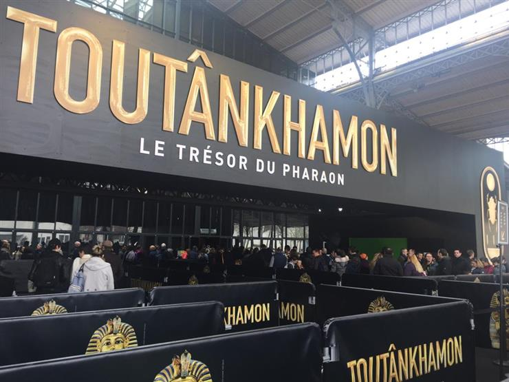f5bf631d2 الآثار: 5 آلاف زائر في أول ساعة لافتتاح معرض توت عنخ آمون بباريس - صور