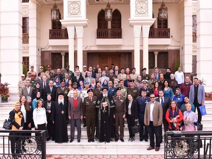 البابا تواضروس يستقبل أساتذة أكاديمية ناصر العسكرية