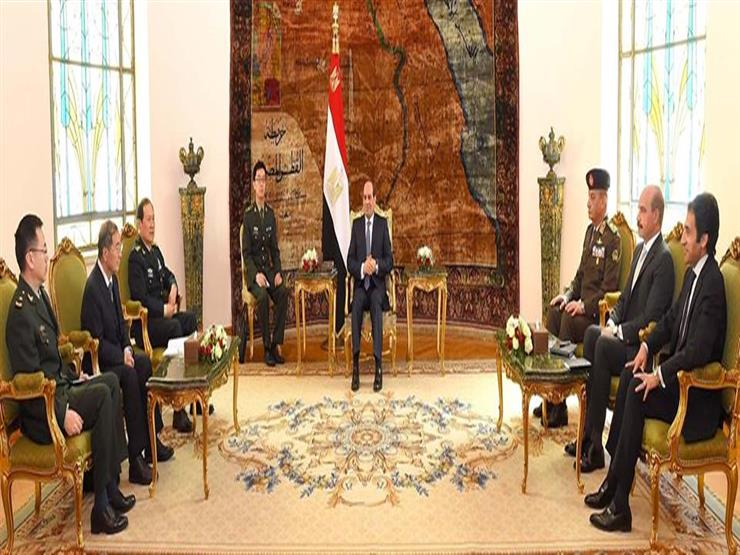 الرئيس السيسي يستقبل وزير الدفاع الصيني