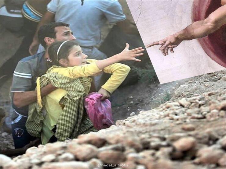 المأساة والسعادة في صورة واحدة.. كيف يحتج شاب سوري على الدمار؟