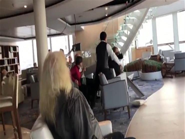 """40 ثانية من الرعب.. فيديو صادم لسفينة نرويجية نجت من مصير """"التايتنك"""""""