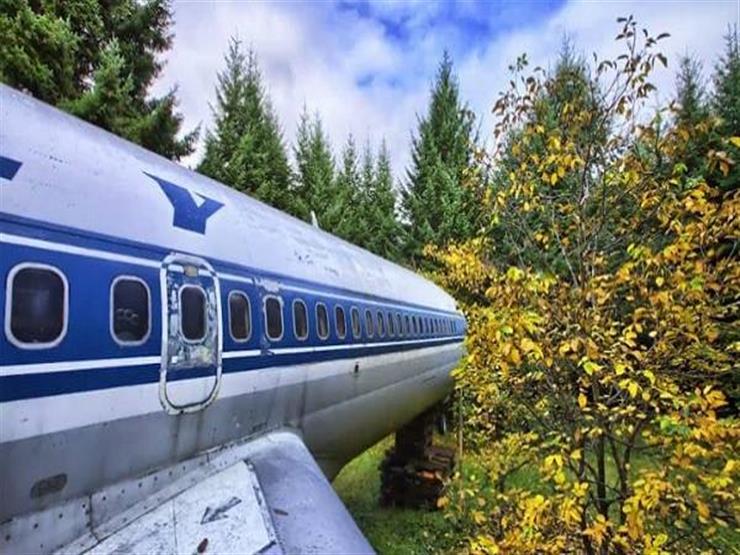 """""""فرست كلاس"""".. مهندس أمريكي يقرر العيش داخل طائرة بالغابة"""