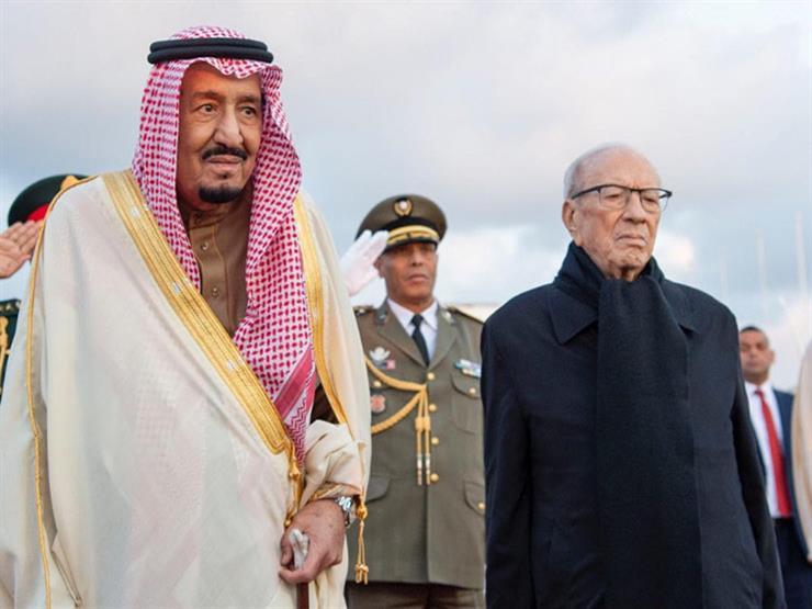 خادم الحرمين الشريفين يبحث مع الرئيس التونسي تعزيز التعاون الثنائي