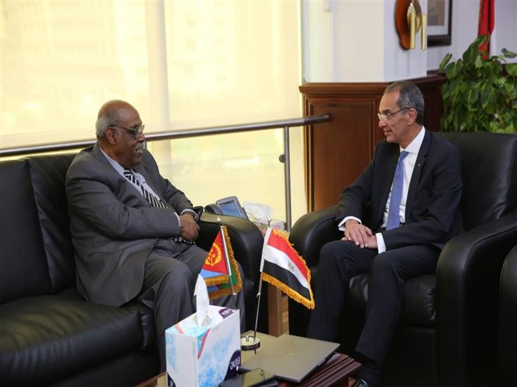 وزير الاتصالات يبحث مع سفير إريتريا التعاون بمجال تكنولوجيا المعلومات