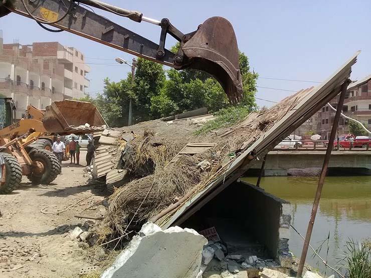 الري تعلن إزالة تعديات على نهر النيل