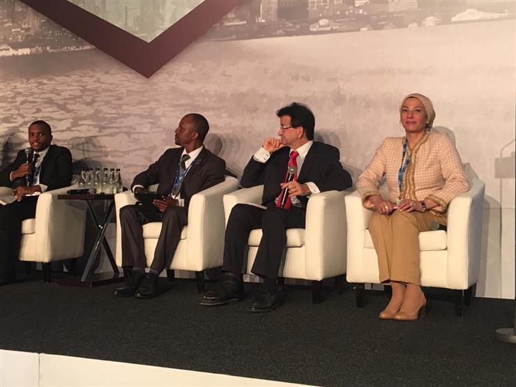 وزيره البيئة تستعرض تجربة مصر لربط الطاقة المتجددة في جوهانسبرج