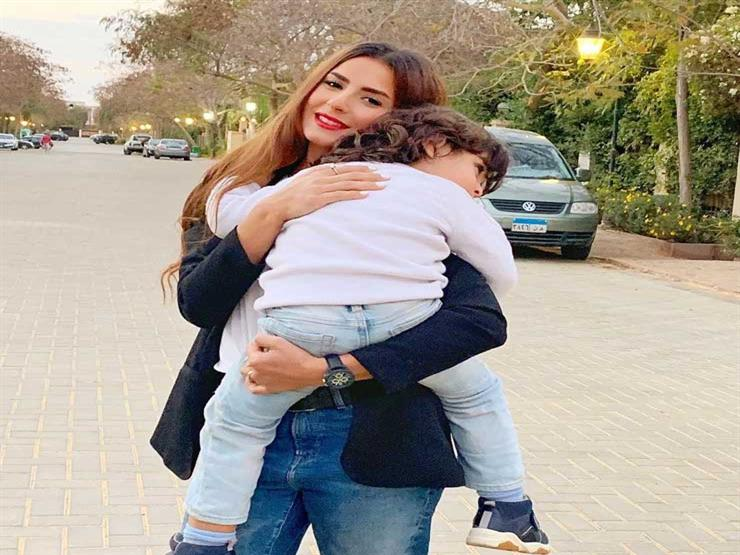 ريهام أيمن تحتفل بعيد ميلاد ابنها