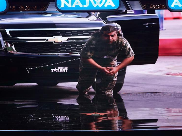 """بالفيديو  لبناني يسحب شاحنة بشعره في """"ARABS GOT TALENT"""""""