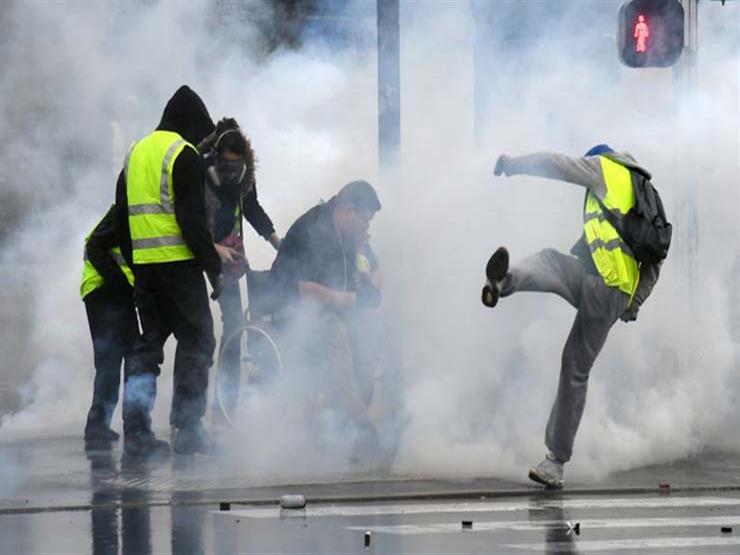 اشتباكات بين السترات الصفراء والشرطة الفرنسية في مدينة تولوز