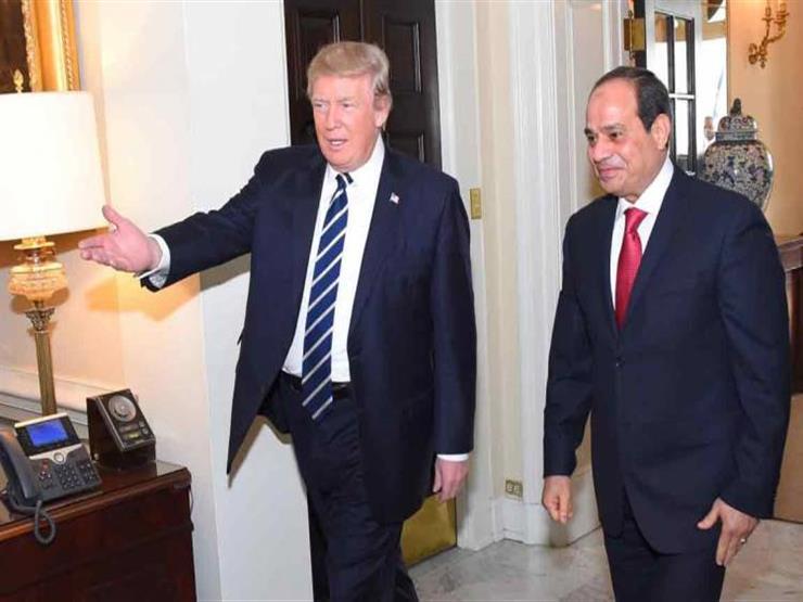 السيسي وترامب يبحثان الأزمة الليبية وخطر الإخوان