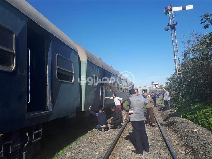 ننشر أسماء المصابين في حادث خروج قطار عن القضبان بكفر الشيخ