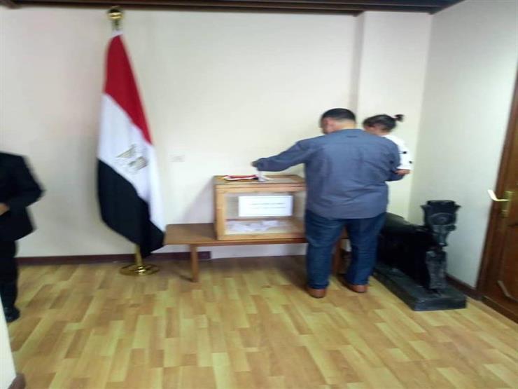 الجالية المصرية في الجزائر مستمرة في التصويت على التعديلات الدستورية