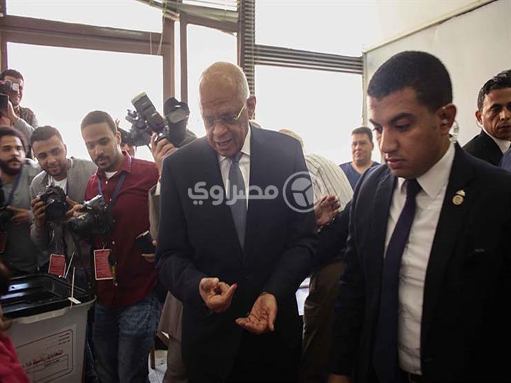 عبدالعال يدلي بصوته في الاستفتاء على التعديلات الدستورية