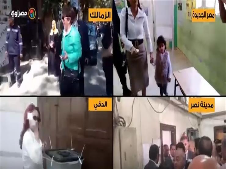 مصر في اللجنة.. مواطنون ووزراء وفنانون تجمعهم طوابير الاستفتاء (فيديو)