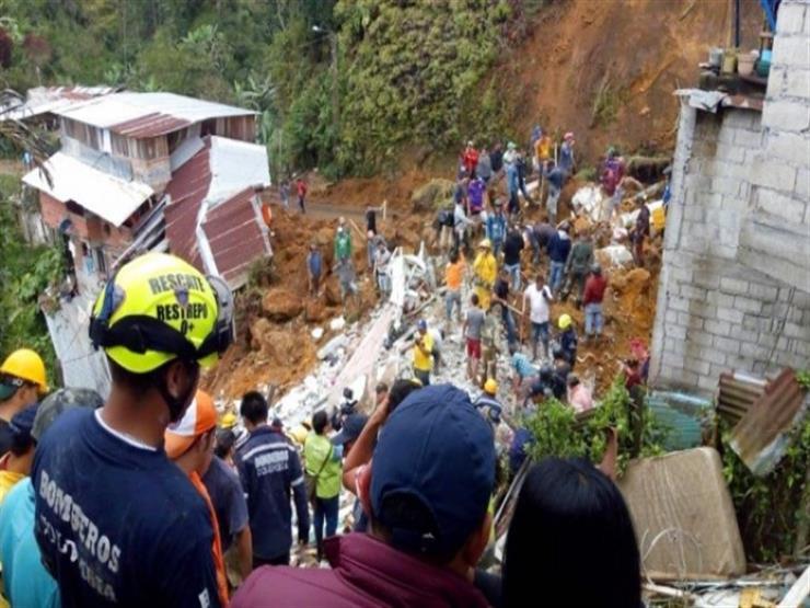 ارتفاع قتلى انهيار أرضي في كولومبيا إلى 14 شخصًا