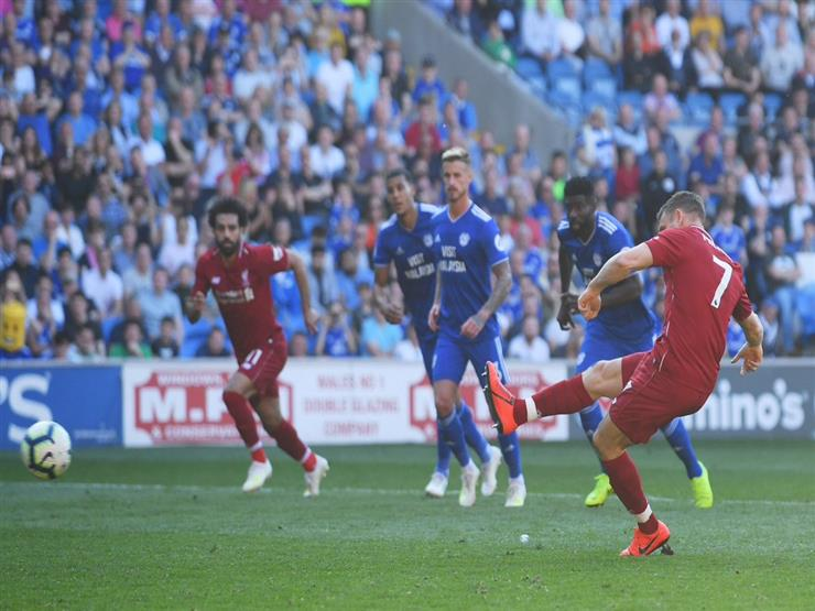 """أهداف الأحد.. ليفربول يتخطى كارديف سيتي بثنائية.. وبنزيما يسجل """"هاتريك"""" أمام أتلتيك بيلباو"""