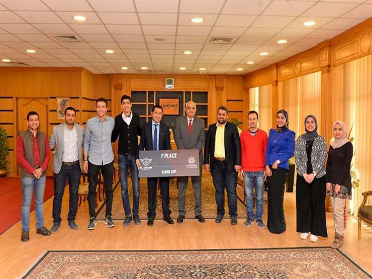 رئيس جامعة المنصورة يكرم الفائزين بالمراكز الأولى في مسابقة رالي ريادة الأعمال