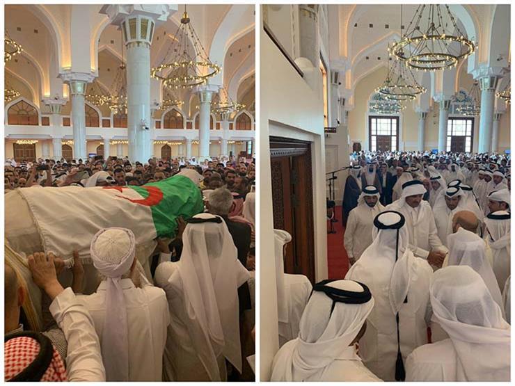 """أمير قطر يحضر صلاة الجنازة على روح """"رأس فتنة"""" العشرية السوداء بالجزائر"""