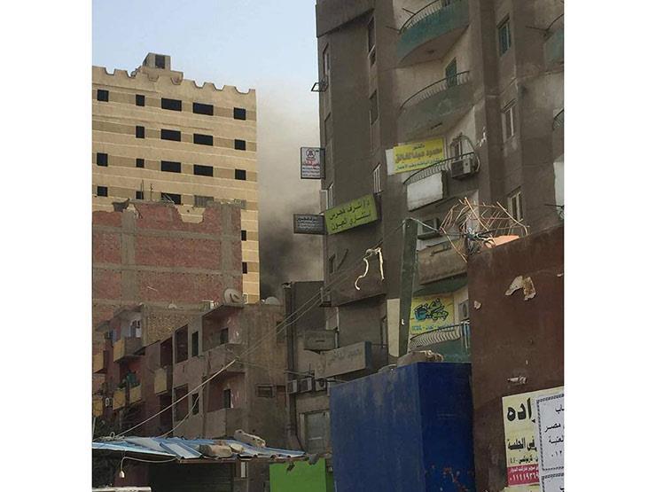 انفجار أسطوانة غاز داخل شقة بفيصل دون إصابات
