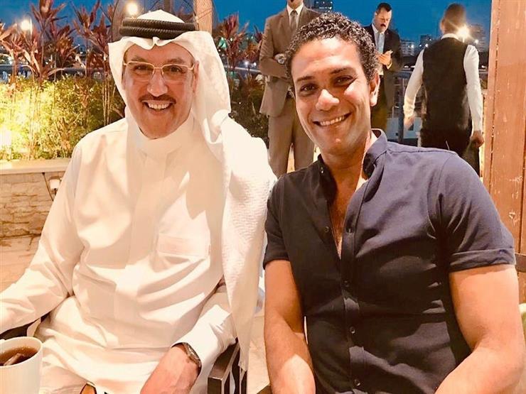 هكذا علق آسر ياسين على صورته مع السفير السعودي