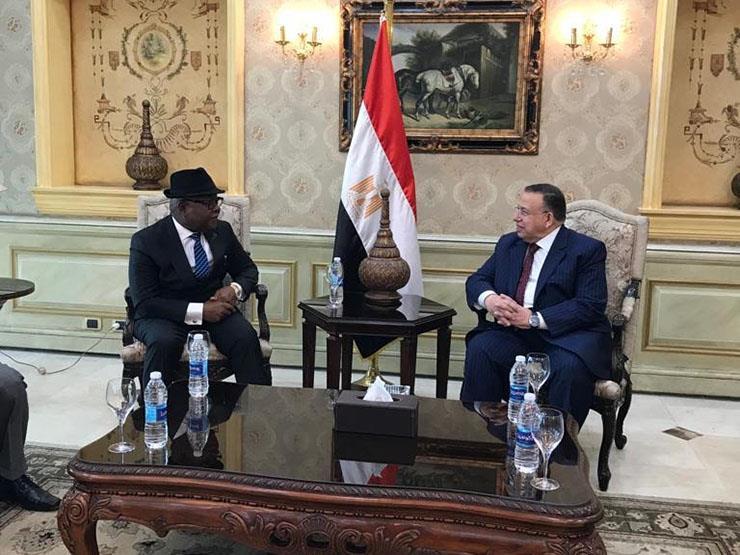 وكيل النواب يودع رئيس برلمان غانا بمطار القاهرة