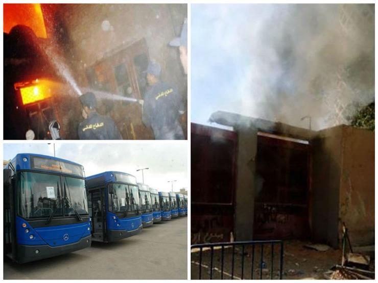 """""""حريقا الأهلي ومحكمة إمبابة"""".. نشرة الحوادث المسائية"""