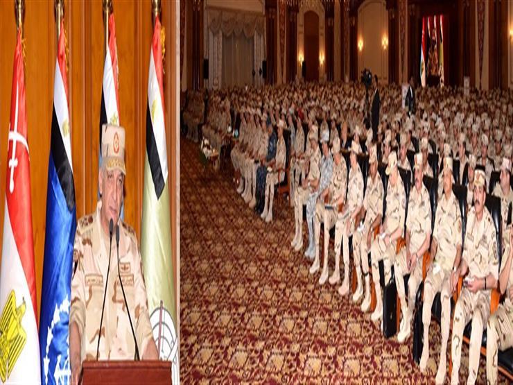 وزير الدفاع يلتقي عددًا من دارسي المعاهد التعليمية بالقوات المسلحة