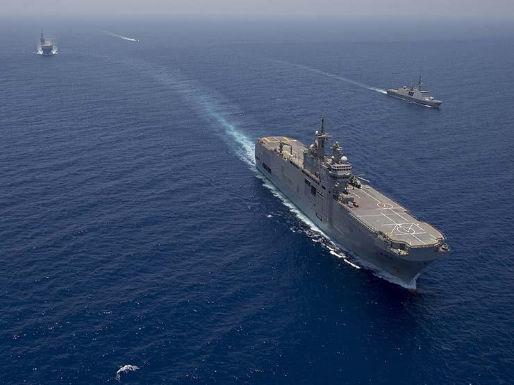 البحرية المصرية والفرنسية تنفذان تدريبًا بحريًا بالبحر المتوسط