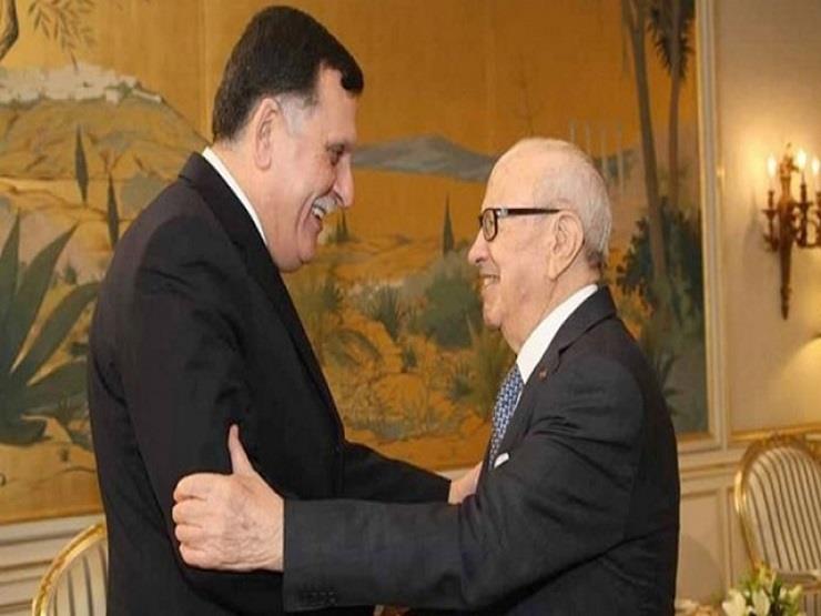 السبسي يبحث مع فايز السراج مستجدات الأوضاع على الساحة الليبية