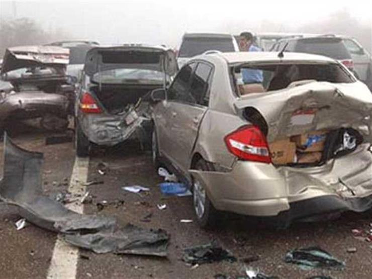 """إصابة 16 مواطنًا في تصادم سيارات بطريق """"مصر – الإسماعيلية"""" الصحراوي"""