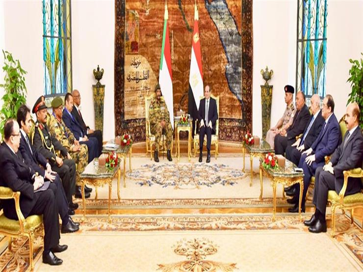 تفاصيل لقاء السيسي ورئيس المجلس العسكري السوداني