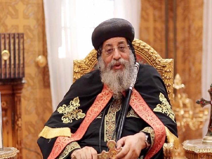 البابا تواضروس يعود إلى مصر عقب رحلته الرعوية لأوروبا