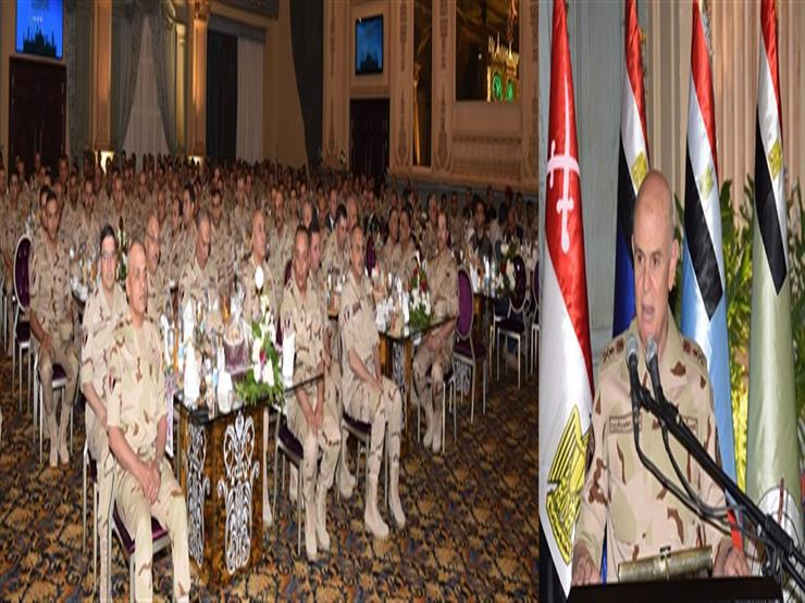 رئيس الأركان يشارك قوات الدفاع الجوي تناول الإفطار