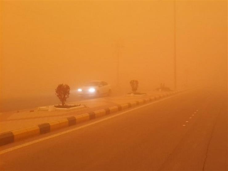 المرور: إغلاق طريق (رأس غارب - الشيخ فضل) بسبب عاصفة ترابية