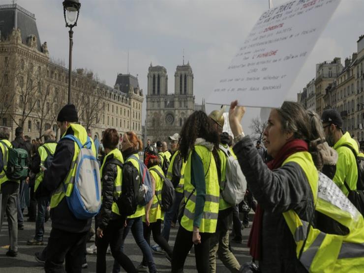 """المحتجون من حركة """"السترات الصفراء"""" ينزلون مجددا إلى الشارع في فرنسا"""