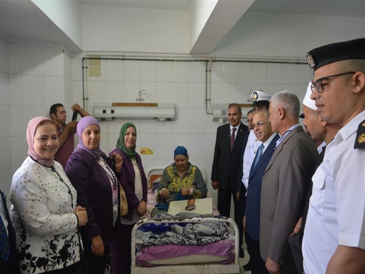 وفد من  الداخلية  يزور مرضى مستشفيات جامعة الأزهر   مصراوى