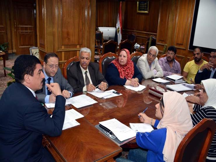محافظ القليوبية يعقد اجتماعًا لمتابعة منظومة تقنين الأراضي