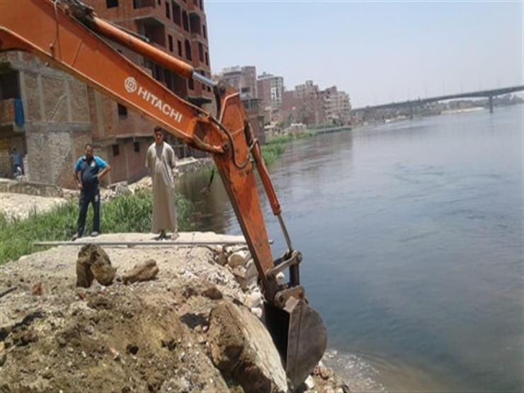 تنفيذ ۱۲۹ قرار إزالة بحرم نهر النيل في البحيرة