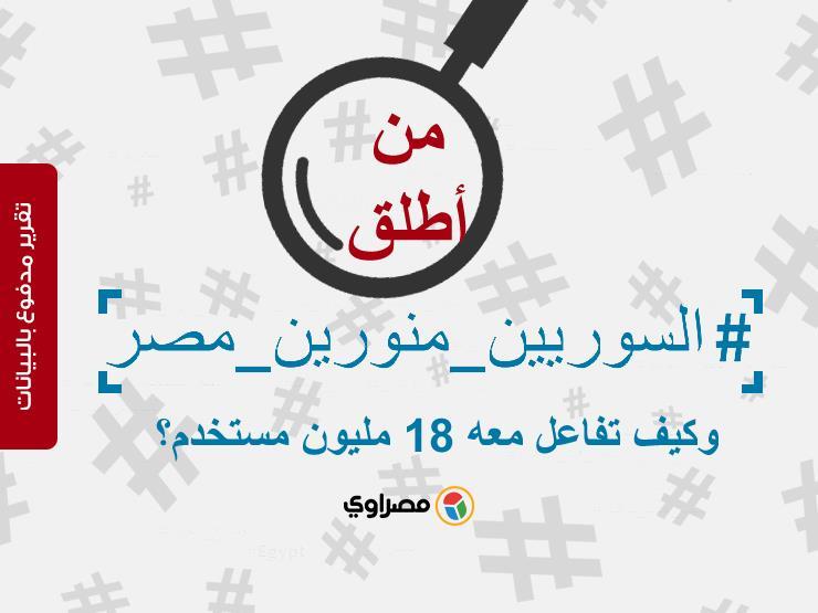 من أطلق #السوريين_منورين_مصر وكيف تفاعل معه 18 مليون مستخدم؟ (تقرير مدفوع بالبيانات)