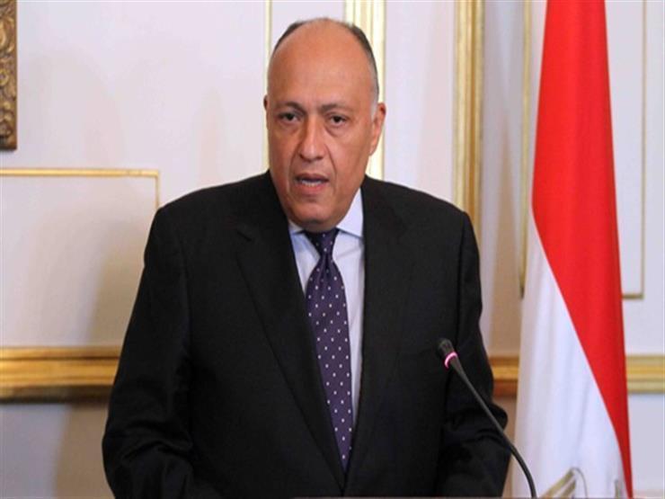 شكري يؤكد ضرورة مواجهة التدخلات الخارجية المرفوضة شكلاً وموضوعاً في ليبيا