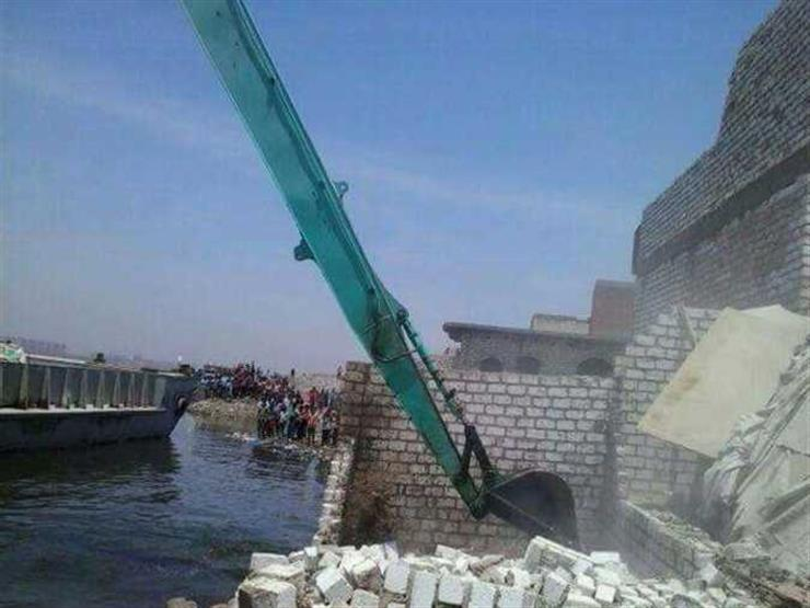 """""""الري"""": إزالة 18 حالة تعدٍ على نهر النيل في ثلاث محافظات اليوم"""