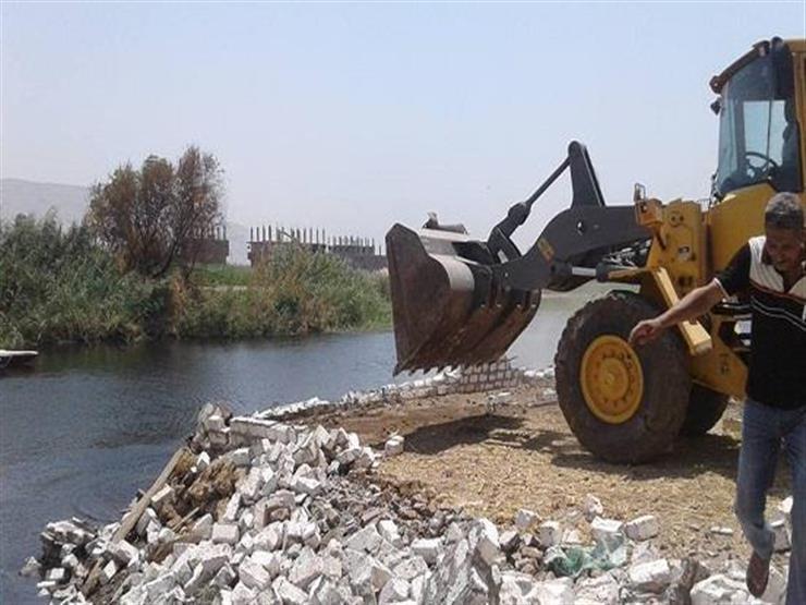 """""""الري"""": إزالة 46 حالة تعد على نهر النيل في محافظتين اليوم"""