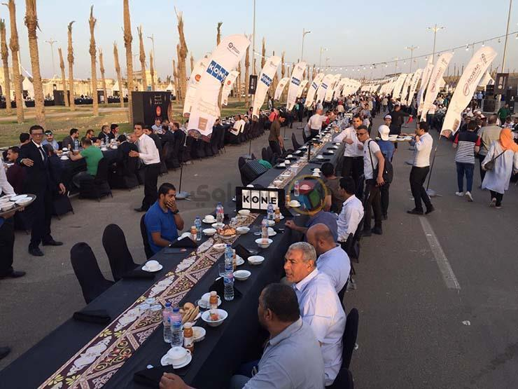 أطول مائدة إفطار بالعاصمة الإدارية الجديدة