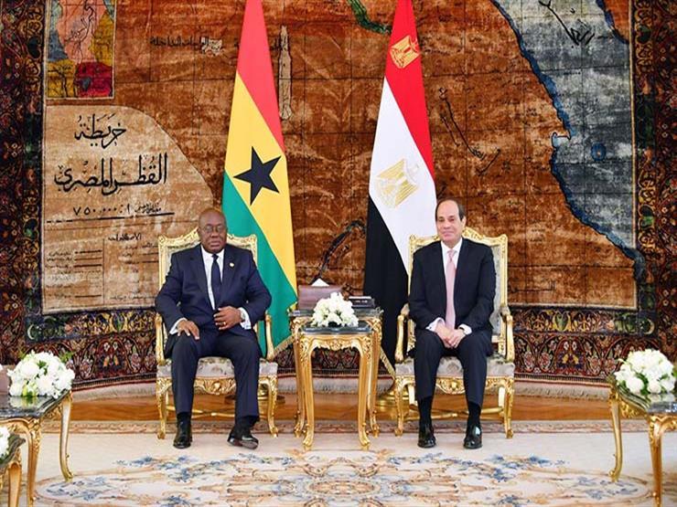 السيسي يبحث الأوضاع في السودان وليبيا مع رئيس غانا