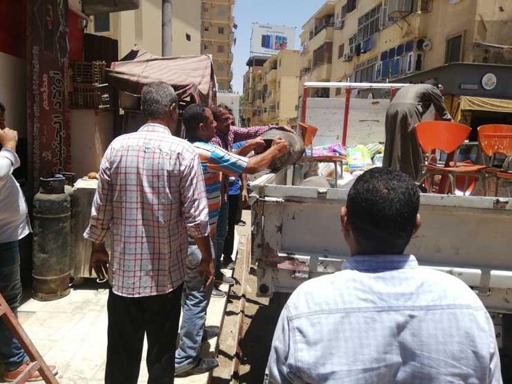محافظة القاهرة تواصل خطة رفع الإشغالات بالشوارع والميادين