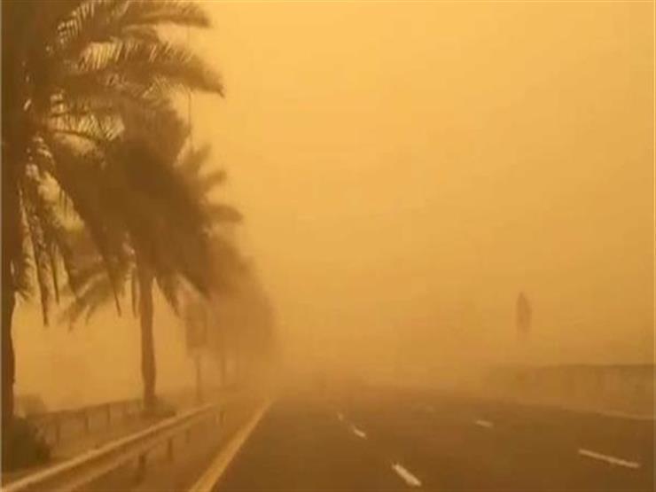 المرور: إغلاق طريق (الزعفرانية - رأس غارب) بسبب عاصفة ترابية