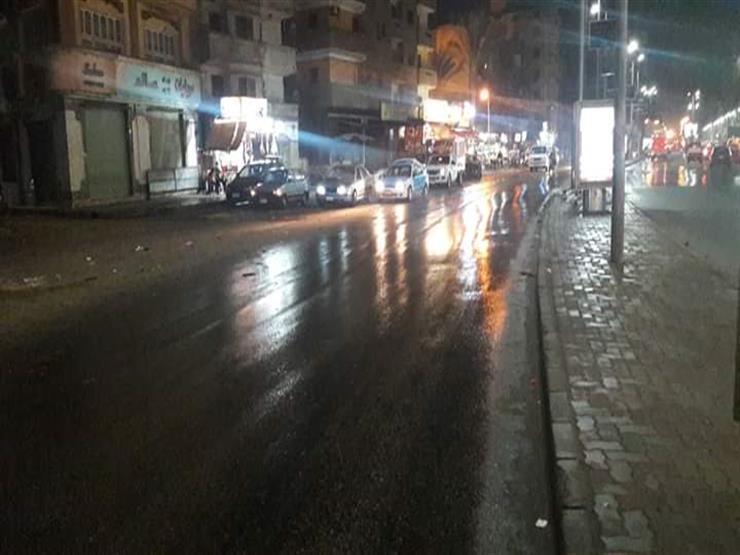 سقوط أمطار خفيفة على أسوان
